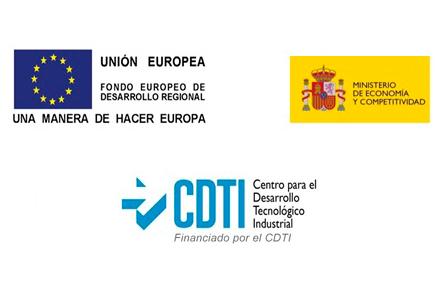 logos CDTI, UE y MEC
